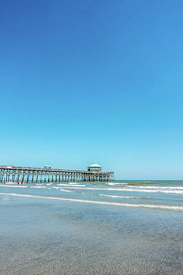 Photograph - Folly Beach Charleston South Carolina On Atlantic Ocean by Alex Grichenko