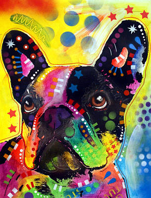 Portrait Dog Painting - French Bulldog by Dean Russo