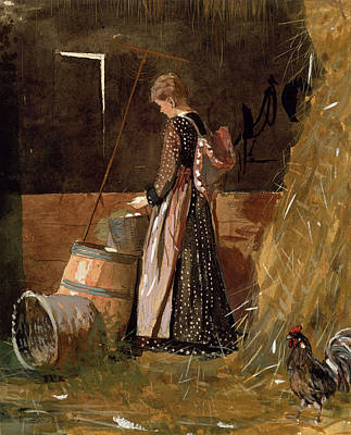 Winslow Homer Drawing - Fresh Eggs by Winslow Homer