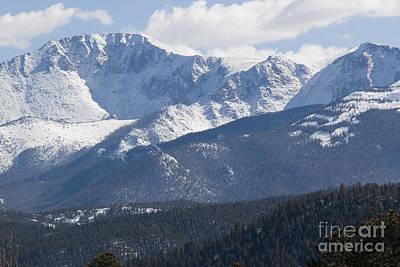 Photograph - Fresh Snow On Pikes Peak by Steve Krull