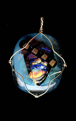 Jewelry - Fused Glass Pendant by Michelle Davidson