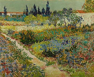 Photograph - Garden At Arles by Vincent van Gogh
