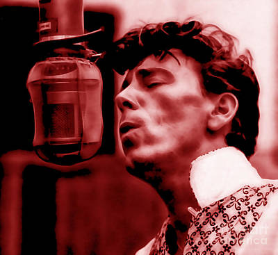 Poster Mixed Media - Gene Vincent Collection by Marvin Blaine
