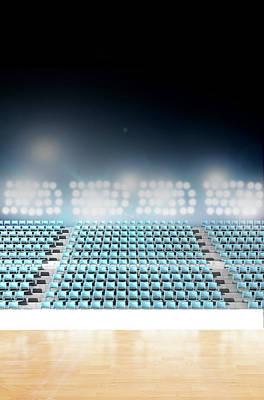 Stadium Digital Art - Generic Floodlit Stadium by Allan Swart