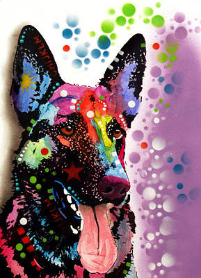 Shepherd Dog Painting - German Shepherd by Dean Russo