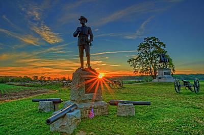 Gettysburg Mcpherson Ridge Sunrise Art Print by Craig Fildes