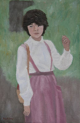 Painting - Girl In The Park by Masami Iida