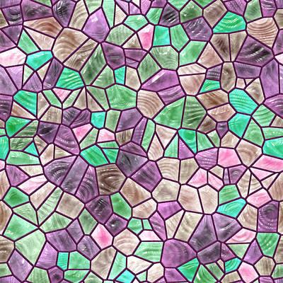 Glass Mosaic Art Print by Miroslav Nemecek