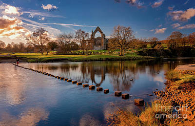 Photograph - Golden Hour By The River Wharfe by Mariusz Talarek