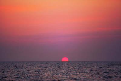 Gold Photograph - gorgeous sundown over the Indian Ocean by Regina Koch