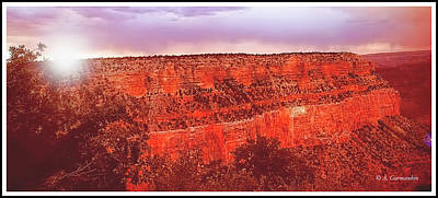 Photograph - Grand Canyon Sunset by A Gurmankin