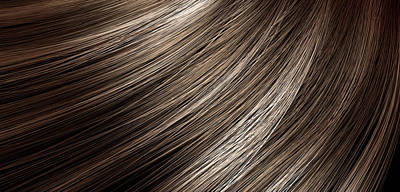 Isolated Digital Art - Hair Blowing Closeup by Allan Swart