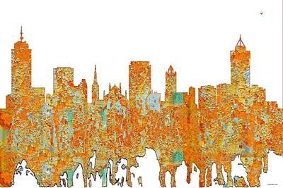 Digital Art - Hamilton Ont. Skyline by Marlene Watson