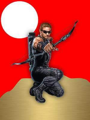 Poster Mixed Media - Hawkeye Collection by Marvin Blaine