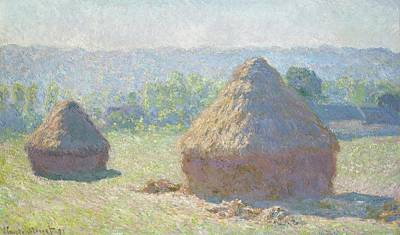 Photograph - Haystacks, End Of Summer by Claude Monet