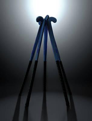 Playing Digital Art - Hockey Sticks Circle by Allan Swart