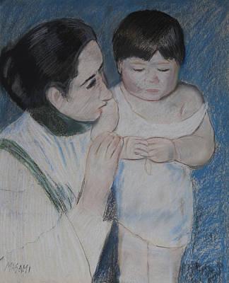 Pastel - Homage To Cassatt by Masami Iida