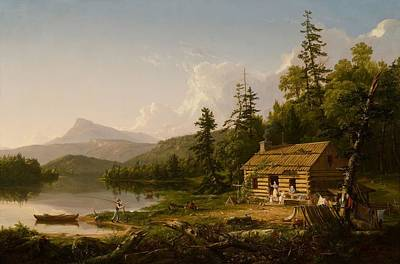Home Painting - Home In The Woods by Thomas Cole