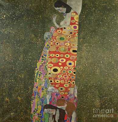 Expecting Painting - Hope II by Gustav Klimt