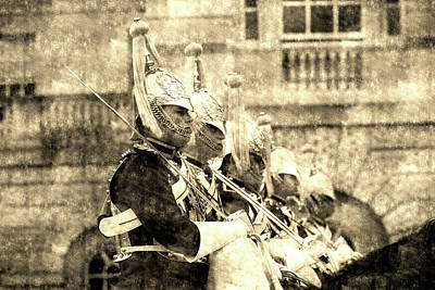 Photograph - Household Cavalry Changing Of The Guard Vintage by David Pyatt