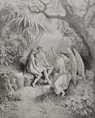 Human Beings Drawing - Illustration By Gustave Dore 1832-1883 by Vintage Design Pics