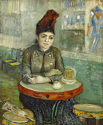 Van Gogh Glass Painting - In The Cafe Agostina Segatori In Le Tambourin by Vincent van Gogh