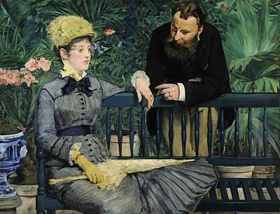Manet Painting - In The Conservatory by Edouard Manet