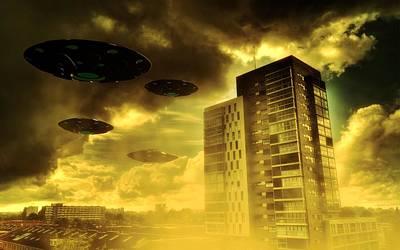 Paranormal Digital Art - Invasion Earth By Raphael Terra by Raphael Terra