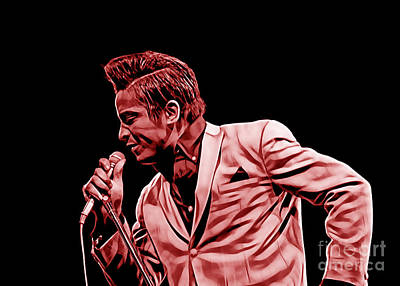 R Mixed Media - Jackie Wilson Collection by Marvin Blaine