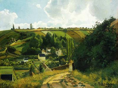 Pontoise Painting - Jalais Hill - Pontoise by Camille Pissarro