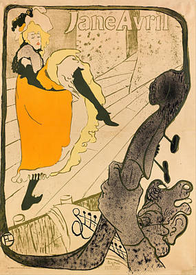 Painting - Jane Avril by Henri De Toulouse-Lautrec
