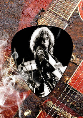 Led Zeppelin Mixed Media - Jimmy Page Art by Marvin Blaine