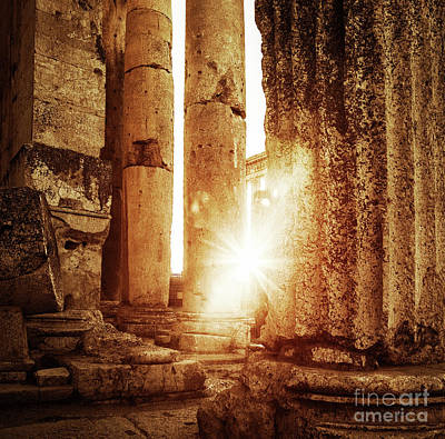 Photograph - Jupiter's Temple  Baalbek, Lebanon by Anna Om
