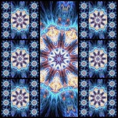 #kaleidoscope #mandala #art #digitalart Art Print by Michal Dunaj