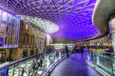 Photograph - Kings Cross Rail Station London by David Pyatt