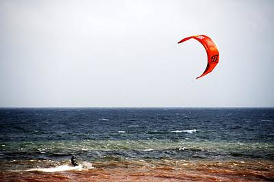 Photograph - Kite Surfer by Chris Day