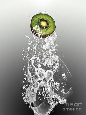 Kiwi Mixed Media - Kiwi Splash by Marvin Blaine