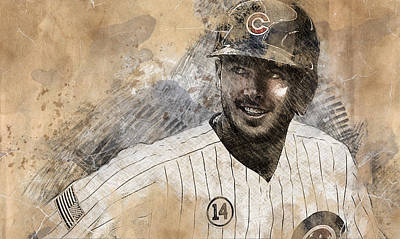 Chicago Cubs Drawing - Kris Bryant by Anna J Davis