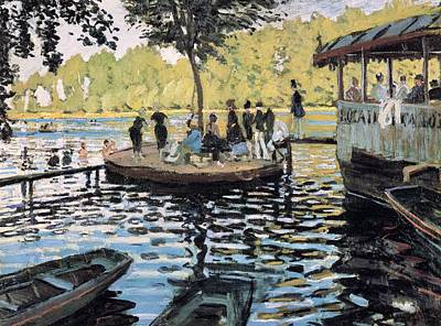 Summer Fun Painting - La Grenouillere by Claude Monet