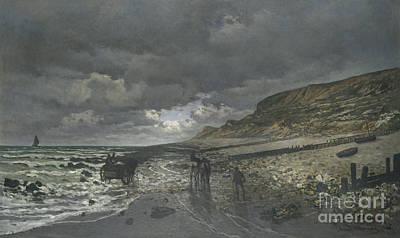 Painting - La Pointe De La Heve At Low Tide by Celestial Images
