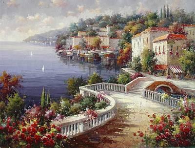 Lago Di Como Art Print by Lucio Campana
