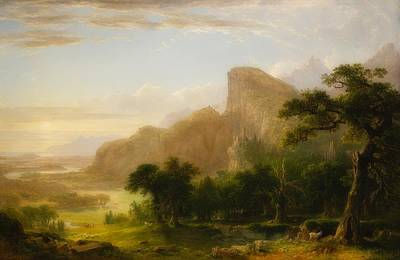 Painting - Landscape - Scene From Thanatopsis by Asher Brown Durand
