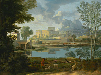 Painting - Landscape With A Calm by Nicolas Poussin