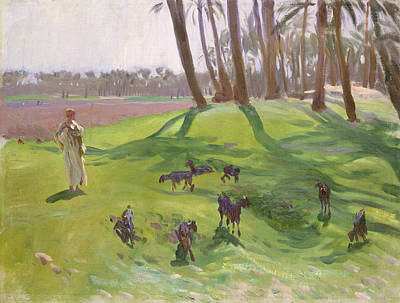 Painting - Landscape With Goatherd by John Singer Sargent