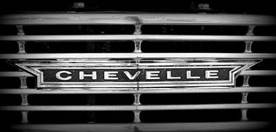 Photograph - Chevelle Grille by Laurie Perry