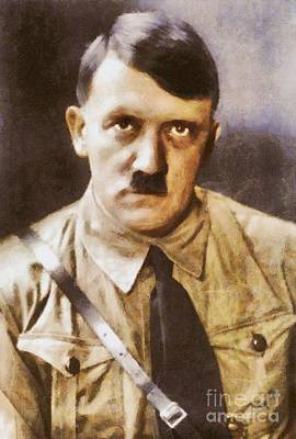 Adolf Painting - Leaders Of Wwii, Adolf Hitler by John Springfield