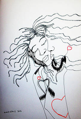 Drawing - Love Is A Heart by Gloria Ssali