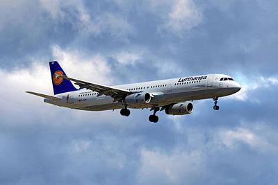 Lufthansa Airbus A321-131 Art Print