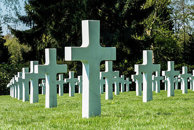 Luxembourg American Cemetery  And Memorial - Luxembourg City  Luxembourg Art Print