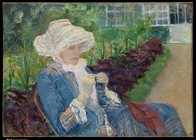 Lydia Crocheting In The Garden At Marly Original